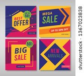 set of promotion square banners.... | Shutterstock .eps vector #1367023838