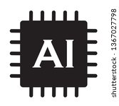 artificial intelligence icon on ...