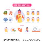 woman character has flu.... | Shutterstock .eps vector #1367039192