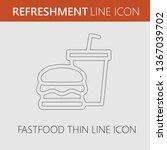 fast food vector logo icon.... | Shutterstock .eps vector #1367039702