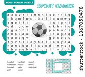 sport games themed word search... | Shutterstock .eps vector #1367050478