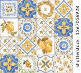 Watercolor Ornament Square...