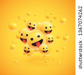 group of high detailed yellow... | Shutterstock .eps vector #1367074262