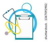 medical tablet with blank and...   Shutterstock .eps vector #1367092982