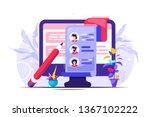 concept human resources ... | Shutterstock .eps vector #1367102222