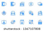 blogging vector flat line icons ...   Shutterstock .eps vector #1367107808