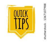 quick tips badge  helpful... | Shutterstock .eps vector #1367107988