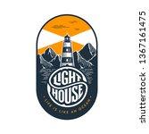 lighthouse emblem in vintage... | Shutterstock .eps vector #1367161475