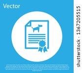 blue medical certificate for... | Shutterstock .eps vector #1367205515