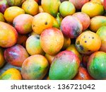 Yummy Pile Of Mangos In A...