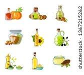 vector illustration of bottle... | Shutterstock .eps vector #1367215262