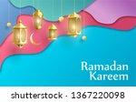 ramadan kareem background place ...   Shutterstock .eps vector #1367220098