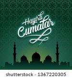 hayirli cumalar. translation... | Shutterstock . vector #1367220305