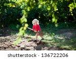 girl with shovel | Shutterstock . vector #136722206