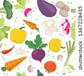 seamless pattern from fresh...   Shutterstock .eps vector #1367228435