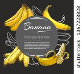banana vector hand drawn... | Shutterstock .eps vector #1367228828