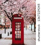 English Red Telephone Box In...