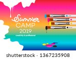 summer camp 2019 template for... | Shutterstock .eps vector #1367235908