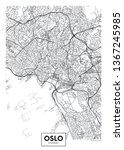 city map oslo  travel vector... | Shutterstock .eps vector #1367245985