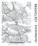 city map stockholm  travel... | Shutterstock .eps vector #1367245988