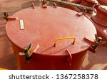 the hatch in the ventilation on ... | Shutterstock . vector #1367258378