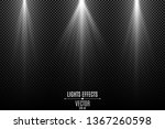 collection of white lights... | Shutterstock .eps vector #1367260598