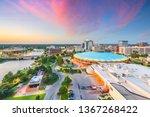 wichita  kansas  usa downtown... | Shutterstock . vector #1367268422