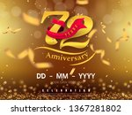 72 years anniversary logo... | Shutterstock .eps vector #1367281802
