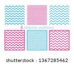 cheron seamless pattern set....   Shutterstock .eps vector #1367285462
