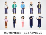 college students. diverse... | Shutterstock .eps vector #1367298122
