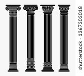 set of four classical ancient... | Shutterstock .eps vector #1367303018