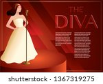 a diva is singing on the... | Shutterstock .eps vector #1367319275