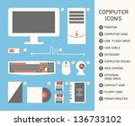 computer icon  vector | Shutterstock .eps vector #136733102
