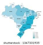 vector population map of the... | Shutterstock .eps vector #1367331935
