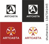 cinema logo for your design and ... | Shutterstock .eps vector #1367341445