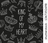 royal crowns doodle icons set... | Shutterstock .eps vector #1367352698