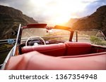 Summer Car On Road And Sunset...