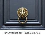 Door Handle Lion With Ring In...