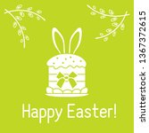 vector illustration with easter ... | Shutterstock .eps vector #1367372615