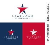residential design logo or star ... | Shutterstock .eps vector #1367401682