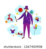 magician wearing stage costume... | Shutterstock .eps vector #1367403908