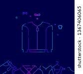 short sport jacket vector line... | Shutterstock .eps vector #1367406065