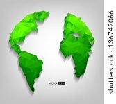 earth globe. eps10 vector... | Shutterstock .eps vector #136742066