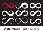set of infinity symbols hand... | Shutterstock .eps vector #1367430872