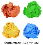 Crumpled Colorful Paper Ball...