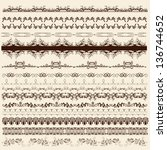 decorative  borders for your ... | Shutterstock .eps vector #136744652