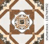 floor tile design digital | Shutterstock . vector #1367469932