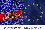 european union and press... | Shutterstock . vector #1367484995