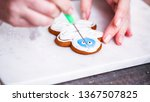 step by step. decorating... | Shutterstock . vector #1367507825
