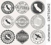 california set of stamps.... | Shutterstock .eps vector #1367516342